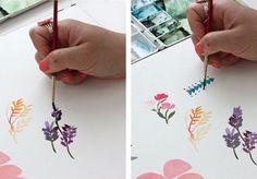 Watercolor Tutorial Part 3: Mark Making @Alison Faulkner