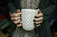 My coffee needs a sweater like this.