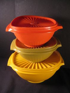 Retro Vintage Tupperware Canister Set 6 pc Bright by TheRetroLife, $39.95