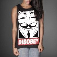 Disobey V for Vendetta LADIES TANK TOP VEST
