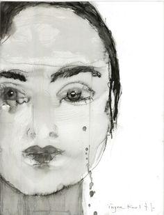 darksilenceinsuburbia:Inger Kolff. Untitled. Pen and ink.