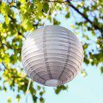 Round Metallic Paper Lanterns