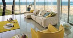 Soho Contemporary Sofa Sectional by Gamma Arredamenti, Italy. Contemporary Furniture Stores, Modern Bedroom Furniture, Contemporary Sofa, Luxury Furniture, Furniture Design, Modern Sectional, Modern Sofa, Sectional Sofa, Sofas