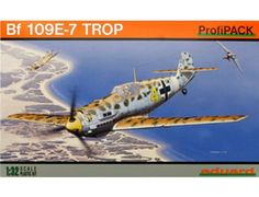 The Eduard Messerschmitt Bf 109E-4/7 Tropical in 1/32 scale from the plastic aircraft model range accurately recreates the real life German fighter aircraft flown during World War II. This plastic aircraft kit requires paint and glue to complete.
