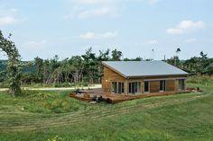 Frank Lloyd Wright nieto casa prefabricada en Wisconsin
