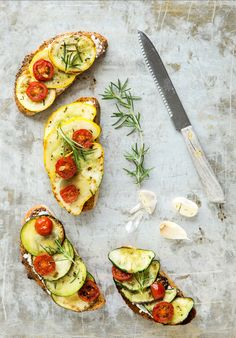Summer squash, goat cheese, and rosemary
