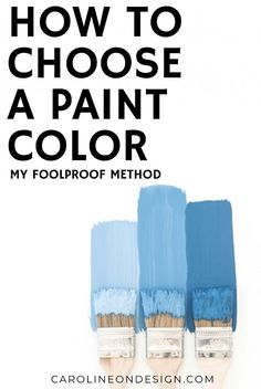 I think we can ALL agree it's HARD to choose a paint color from a small sample! I share an EASY way to create large paint color samples in three easy steps! Best Interior Paint, Interior Decorating Tips, Interior Design Tips, Design Ideas, Entry Way Design, Foyer Design, Playroom Design, Nursery Design, Hallway Designs
