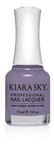 Kiara Sky Polish Roadtrip N513. Kiara Sky® Professional Nail Lacquer is an advanced formula free of Formaldehyde, Toluene, and DBP. Our highly pigmented, high-fashion nail lacquer provides glassy, full coverage, long-wearing shine for natural nails. Kiara Sky patent-pending bottle design is paired with Precision Brush® technology engineered to complement our highly pigmented formula, giving you the most even and precise lacquer application. Available in 101 trendsetting...