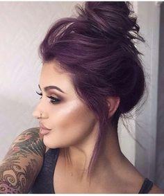 color de pelo de ciruela color malva oscuro