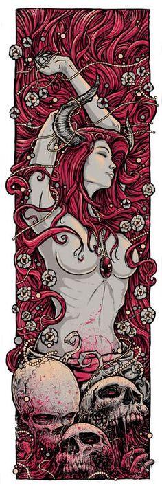 All About Art Tattoo Studio Rangiora. Quality work by Professional Artist. Fantasy Anime, Fantasy Kunst, Fantasy Art, Art And Illustration, Illustrations, Bd Art, Art Et Design, Comic Kunst, Skull Art