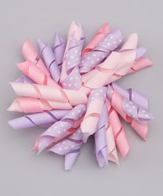Take a look at this Lavender & Pink Korker Clip by Buttercream Babe on #zulily today!