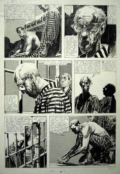 Alberto Breccia...see what stripes do to add interest and texture