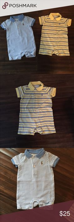 Ralph Lauren polo Shortalls size 3 mos 2 Ralph Lauren Polo Shortalls Ralph Lauren One Pieces