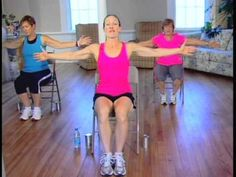 40-Minute Seated Chair Cardio and Strength Workout - YouTube