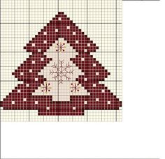 Tree pattern cross stitch / Arbol de Navidad punto de cruz patrón