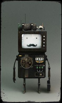 6b42238071bb ADVENTURE TIME  Steam Punk Beemo  lt 3 Robot Art