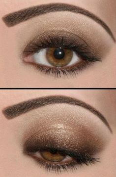 a more subtle brown Smoky eye. Good for a daytime look.