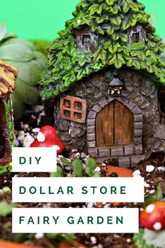 15 MINUTE DOLLAR STORE FAIRY GARDEN PEDESTAL - Mad in Crafts #crafts #fairygarden #dollarstorecrafts
