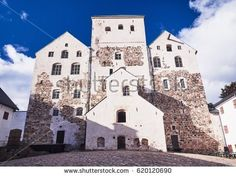 Stock Photo: Turku castle in bright sunshine in Finland on a sunny summer day. -