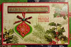Christmas card,  ornament and music notes