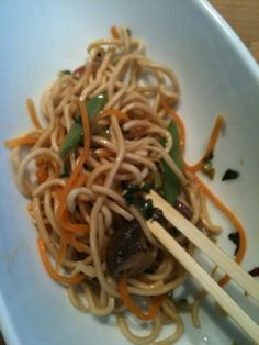 Mariese's Chinese Noodles with Spicy Green Sauce simple #vegan #recipe