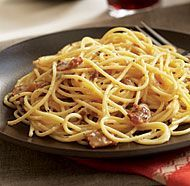 Spaghetti alla Carbonara - Rossi made this in a cooking lesson for the rest of the team on Criminal Minds