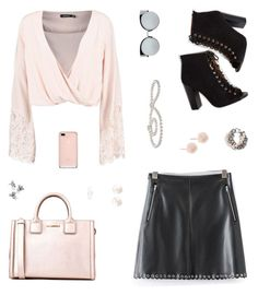 """""""Chelsea"""" by belenloperfido ❤ liked on Polyvore featuring Boohoo, Karl Lagerfeld, Fendi, Gigi Burris Millinery, Anne Sisteron, Moschino and Forever 21"""