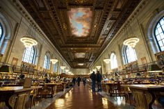 The Rose Reading Room is luxurious in the way that only certain shared spaces can be. Its grandeur attracts its visitors, and is in turn amplified by their presence: the true urban symbiosis.