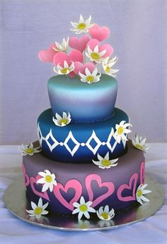 Remarkable Wedding Cake How To Pick The Best One Ideas. Beauteous Finished Wedding Cake How To Pick The Best One Ideas. Fancy Wedding Cakes, Amazing Wedding Cakes, Wedding Cake Designs, Fancy Cakes, Cute Cakes, Pretty Cakes, Amazing Cakes, Purple Wedding, Wedding Stuff