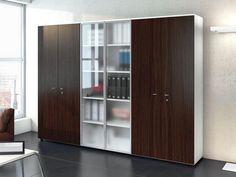 Офисный шкаф со стеклом - Las Mobili - http://mebelnews.com/ofisnyj-shkaf-so-steklom-las-mobili