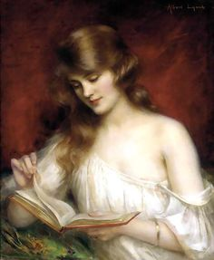 Albert Lynch - Girl reading