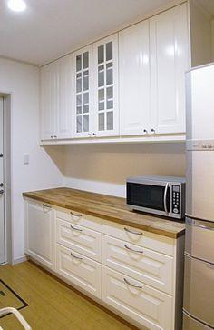IKEAキッチンオーダー食器棚の事例。戸建住宅船橋市。L180cm IKEAキッチン食器棚