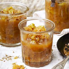 Try our best apple chutney recipes with cheeses or cold meats. Our easy recipes, packed with mango, plum and tomato, include sweet and spicy versions. Apple Chutney, Tamarind Chutney, Cranberry Chutney, Tomato Chutney, Spiced Pear, Spiced Apples, Bbc Good Food Recipes