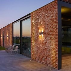 Bricks, glass and wood - my favourite materials brick house designs, modern brick house Modern Brick House, Brick House Designs, Modern House Design, Brick Design, Red Brick Houses, Stone Houses, Brick Facade, Facade House, Brick Cladding
