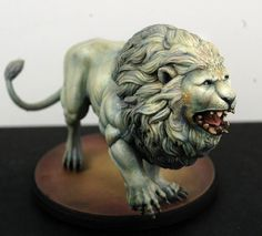 White Lion painted by Bohun