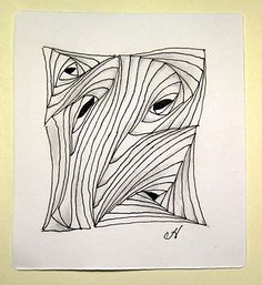 Tangling Paradox, but with a very organic feel... #zentangle
