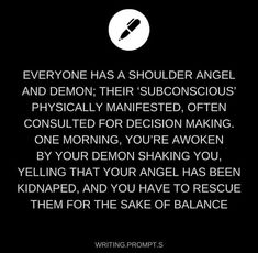 Or, or, you could have one angel/demon and your soulmate would have the other. Just a thought.