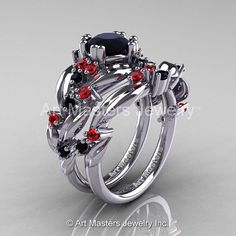Nature Classic 14K White Gold 1.0 Ct Black by DesignMasters, $1799.00