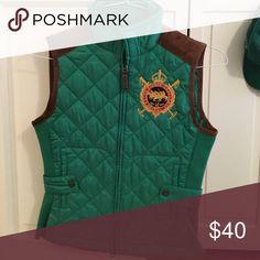 Ralph Lauren Vest Green and chocolate brown vest Jackets & Coats Vests