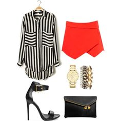 Stylish by fiallosjdblog on Polyvore featuring polyvore, fashion, style, Steve Madden, Henri Bendel, Charlotte Russe and DKNY