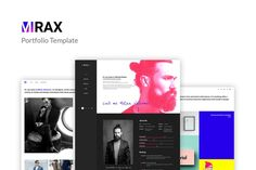 Mirax - Portfolio PSD Template by torbara on Envato Elements Psd Templates, Design Templates, Web Ui Design, Magazine Template, Magazine Design, Website Template, Designs To Draw, Infographic, Minimal Photography
