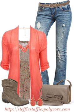 coral floral top outfit fall - Google Search