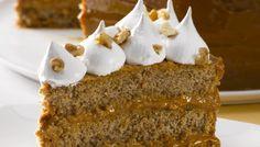 Torta de manjar nuez y merengue