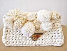 Foldover clutch, Envelope Clutch, Bridesmaid Gift, Crochet Clutch, Foldover Handbag, Bridesmaid Bag, Bridal Clutch, Bridesmaid Gifts, Clutch by Hottknots