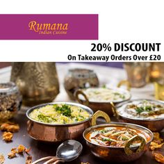 Rumana Indian Cuisine offers delicious Indian Food in Chapel Park, Newcastle Upon Tyne Browse takeaway menu and place your order with ChefOnline. Indian Food Recipes, Ethnic Recipes, Newcastle, A Table, Curry, Menu, Delivery, Restaurant