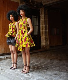 By Natacha Baco, est une mode qui s'adresse aux femmes sûres d'elles. Collection MUSE – PE 2015. Ankara. Wax Print. Kitenge. West African Fabric. African Prints in Fashion.