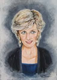 "Irish artists - Michael Monaghan - Princess Diana"" title=""Art, Princess Diana"""