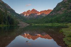 Maroon Lake in Aspen, Colorado