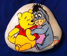Winnie the Pooh and Eyore on Stone by ~AmandaFerguson070707 on deviantART