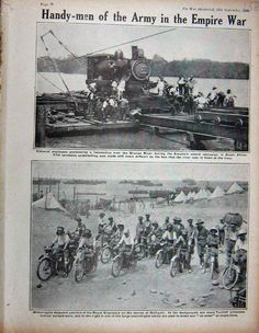 Antique Print 1915 Ww1 Colonial Engineers Orange River Motor-Cycle 158E263 | eBay